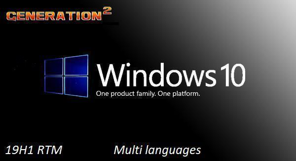 Windows 10 Home Pro 19H1 X86 OEM MULTi-24 MAY 2019