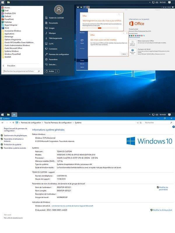 WINDOWS 10 PRO LIGHT & OFFICE NEWS EDITION 2019 1809 (Build 17763 529) x64 FR Optimise